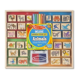 Animals Deluxe Wooden Stamp Set