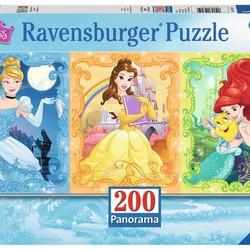 Beautiful Disney Princesses - 200 Piece Puzzle Panorama