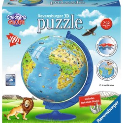 3D Children's Globe - 180 Piece Puzzle