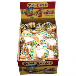 E Frutti Gummi Mini Burger - 60 Piece Box