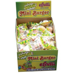 E Frutti Gummi Sour Mini Burger - 60 Piece Box