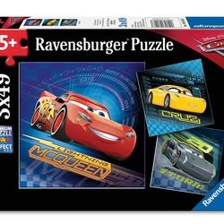 Cars 3 - 3 x 49 Piece Puzzles