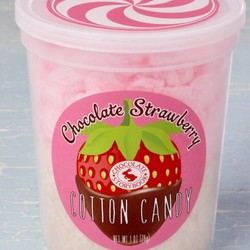 Gourmet Cotton Candy - Chocolate Dipped Strawberry