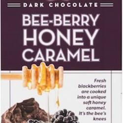 CCC Dark Chocolate Bee Berry Honey Caramel Bar
