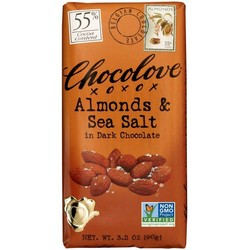 Almonds & Sea Salt in Dark Chocolate 3.2 oz Bar