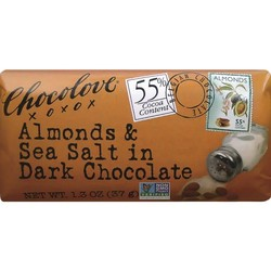 Almonds & Sea Salt in Dark Chocolate Mini 1.3 oz Bar