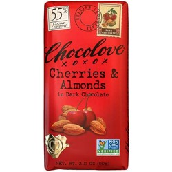 Cherries & Almonds in Dark Chocolate 3.2 oz Bar
