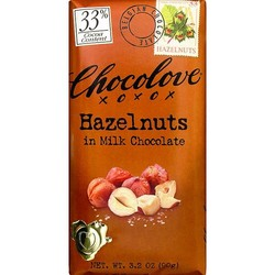 Hazelnuts in Milk Chocolate 3.2 oz Bar