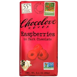 Raspberries in Dark Chocolate 3.1 oz Bar
