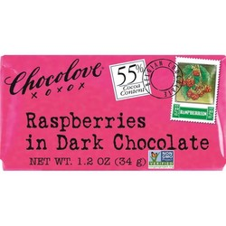 Raspberries in Dark Chocolate Mini 1.2 oz Bar