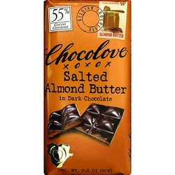 Salted Almond Butter in Dark Chocolate 3.2 oz Bar