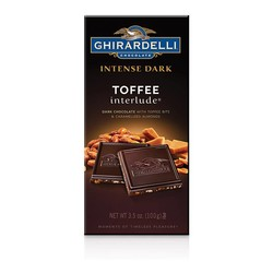 Dark Chocolate Toffee & Caramelized Almonds Bar 3.5 oz.