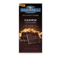 Dark Chocolate Sea Salt Roasted Cashew Bar 3.5 oz.