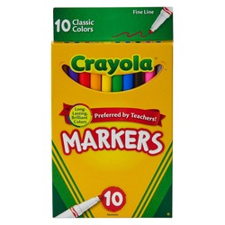 Crayola Markers Fine Line 10ct Classic