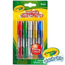 Crayola Glitter Glue Pens, Assorted Colors ‑ 5 Count