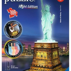 3D Statue of Liberty - Night Edition - 216 Piece Puzzle