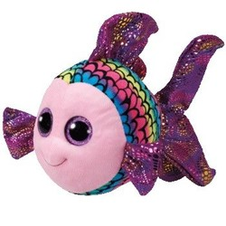 Beanie Boos - Flippy Rainbow Fish - Medium 13""