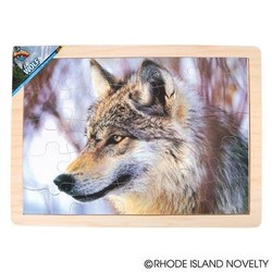 25 Piece Wolf Wood Puzzle