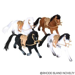 """4"""" Flocked Horses Assorted Styles"""