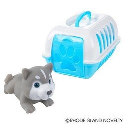 "8"" Mini Pet Carrier with Husky"