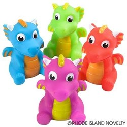 "3"" Water Squirting Dragons Assorted Colors"