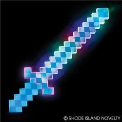 "24"" Light Up Blue Pixel Sword"