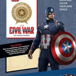 IncrediBuilds - Marvel - Captain America, Civil War 3D Wood Model