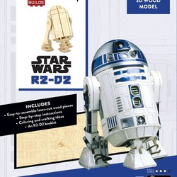 IncrediBuilds - Star Wars - R2-D2 3D Wood Model