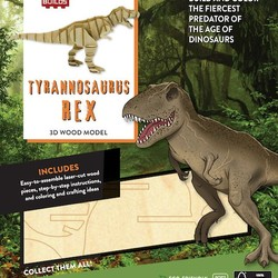 IncrediBuilds Tyrannosaurus Rex 3D Wood Model