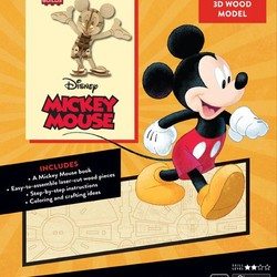 IncrediBuilds - Disney - Mickey Mouse 3D Wood Model & Book