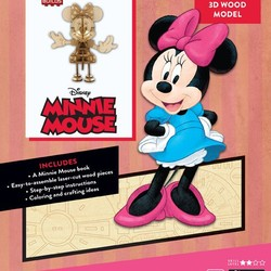 IncrediBuilds - Disney - Minnie Mouse 3D Wood Model & Book