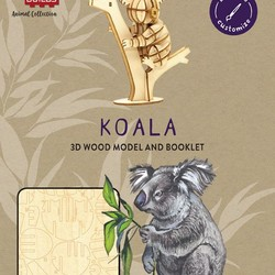 IncrediBuilds - Animal Collection - Koala 3D Wood Model & Book