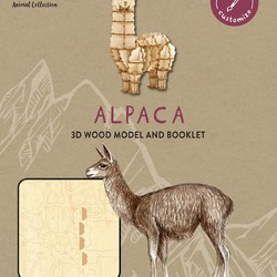 IncrediBuilds - Animal Collection - Alpaca 3D Wood Model