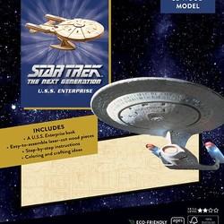 IncrediBuilds - Star Trek - The Next Generation: U.S.S. Enterprise 3D Wood Model & Book