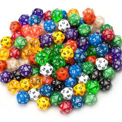 Legacy Dice - 100 Pack D20 Polyhedral Dice in Multiple Colors