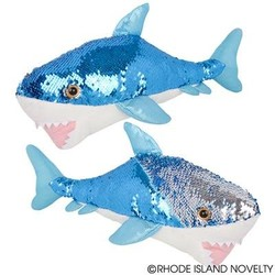 "18"" Great White Sequin Shark"