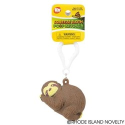 "2.5"" Squeezy Poo Sloth Backpack Clip"