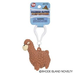 "2.5"" Squeezy Poo Alpaca Backpack Clip"