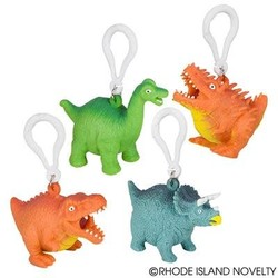 """2.5"""" Squeezy Poo Dinosaur Backpack Clip"""