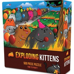 Exploding Kittens Time to Pawty 500 Piece Puzzle