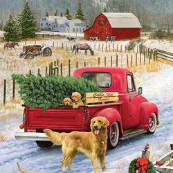 Christmas on the Farm 1000 Pieces