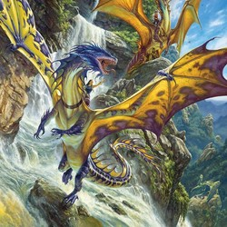 Waterfall Dragons - 1000 Piece Puzzle