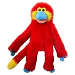 Red Monkey Puppet