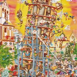 Building the Tower of Pisa (cartoon) - 1000 pcs