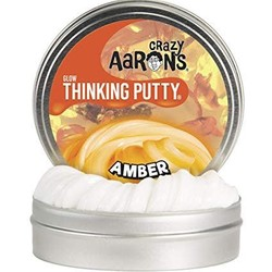 "Crazy Aaron's 4"" Tin - Glow in the Dark - Amber"