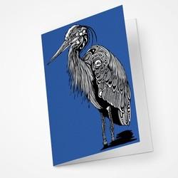 Great Blue Heron Blank Notecard