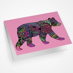 Black Bear Walking Blank Notecard