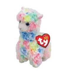"Beanie Babies - Lola Multicolor Llama - Small 8"""