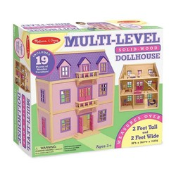 Wooden Multi-Level Wooden Dollhouse