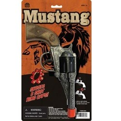 "Western Mustang Cap Gun 7.5"" Long"